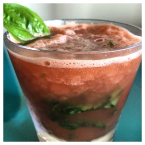 watermelon basil w border