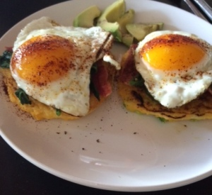 eggs and corn cakes 2