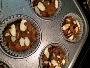 almond pumpkin muffin far